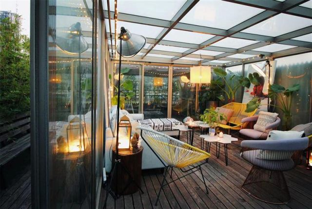 Nice and private roof terrace w 2BR apt@Jing'an temple